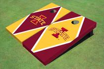 "Iowa State University ""I"" Alternating Diamond Custom Cornhole Board"
