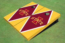 "Iowa State University ""I"" Red And Yellow Matching Diamond Cornhole Boards"
