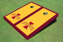 "Iowa State University ""I"" Red Matching Border Cornhole Boards"