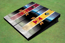 "Iowa State University ""I"" Field Long Strip Alternating Custom Cornhole Board"