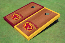Iowa State University Cyclone Rosewood Alternating Border Cornhole Boards