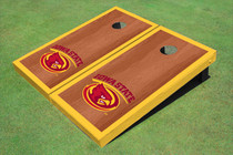 Iowa State University Cyclone Yellow Rosewood Matching Borders Cornhole Boards