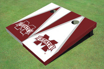 "Mississippi State University ""M"" Alternating Triangle Cornhole Boards"