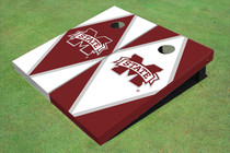 "Mississippi State University ""M"" Alternating Diamond Cornhole Boards"