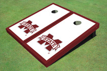 "Mississippi State University ""M"" Maroon Matching Border Cornhole Boards"
