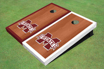 "Mississippi State University ""M"" Rosewood Alternating Border Cornhole Boards"