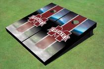 "Mississippi State University ""M"" Field Long Strip Matching Maroon Themed Cornhole Boards"