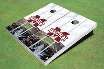 "Mississippi State University ""M"" Stadium Long Strip Themed Cornhole Boards"