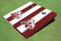 Mississippi State University Bulldog Alternating Long Stripe Cornhole Boards