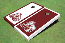 Mississippi State University Bulldog Alternating Border Cornhole Boards