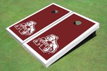 Mississippi State University Bulldog White Matching Border Cornhole Boards