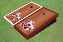 Mississippi State University Bulldog Rosewood Alternating Border Cornhole Boards