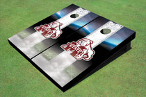 Mississippi State University Bulldog Field Long Strip Matching White Themed Cornhole Boards