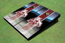 Mississippi State University Bulldog Field Long Strip Matching Maroon Themed Cornhole Boards