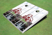 Mississippi State University Bulldog Stadium Long Strip Themed Cornhole Boards