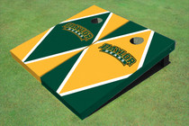 Baylor University Arch Alternating Diamond Custom Cornhole Board