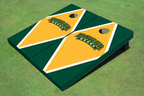 Baylor University Arch Yellow And Hunter Green Matching Diamond Custom Cornhole Board