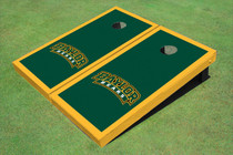 Baylor University Arch Yellow Matching Border Custom Cornhole Board