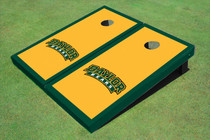 Baylor University Arch Hunter Green Matching Border Custom Cornhole Board