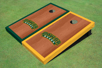 Baylor University Arch Rosewood Alternating Border Custom Cornhole Board