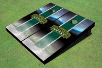 Baylor University Arch Field Long Strip Matching Hunter Green Custom Cornhole Board