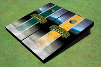 Baylor University Arch Field Long Strip Alternating Custom Cornhole Board