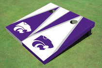 Kansas State University Wildcats Alternating Triangle Custom Cornhole Board