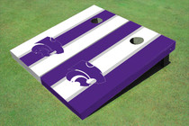 Kansas State University Wildcats Alternating Long Stripe Custom Cornhole Board
