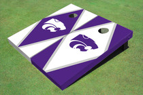 Kansas State University Wildcats Alternating Diamond Custom Cornhole Board
