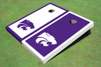 Kansas State University Wildcats Alternating Border Custom Cornhole Board