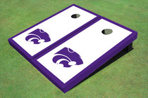 Kansas State University Wildcats Purple Matching Border Custom Cornhole Board