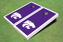Kansas State University Wildcats White Matching Border Custom Cornhole Board