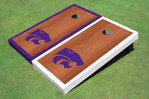 Kansas State University Wildcats Rosewood Alternating Border Custom Cornhole Board