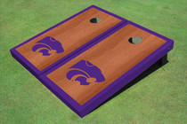 Kansas State University Wildcats Purple Rosewood Matching Border Borders Custom Cornhole Board