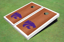 Kansas State University Wildcats White Rosewood Matching Borders Custom Cornhole Board