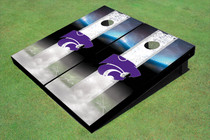 Kansas State University Wildcats Field Long Strip Matching White Custom Cornhole Board