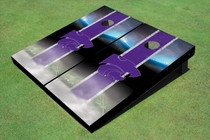 Kansas State University Wildcats Field Long Strip Matching Purple Custom Cornhole Board