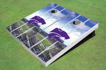 Kansas State University Wildcats Stadium Long Strip Custom Cornhole Board