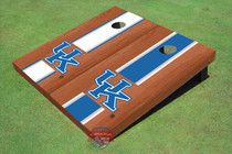 University Of Kentucky Rosewood Alternating Long Stripe Custom Cornhole Board