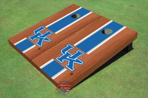 University Of Kentucky Blue Rosewood Matching Long Stripe Custom Cornhole Board