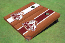 Mississippi State University Bulldog Rosewood Alternating Long Stripe Cornhole Boards