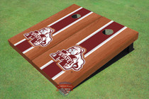 Mississippi State University Bulldog Maroon Rosewood Matching Long Strip Cornhole Boards