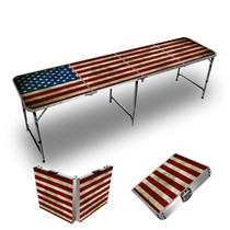 American Flag 8ft Tailgate Table