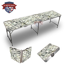 100 Dollar Bills 8ft Tailgate Table