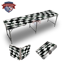 Checkered Flag 8ft Tailgate Table