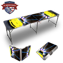 Corvette Yellow 8ft Tailgate Table