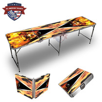 Fire Fighter Triangle 8ft Tailgate Table