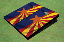 Arizona Flag Cornhole Board