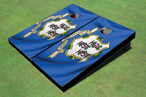 Connecticut State Flag Custom Cornhole Board