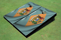 Delaware State Flag Custom Cornhole Board
